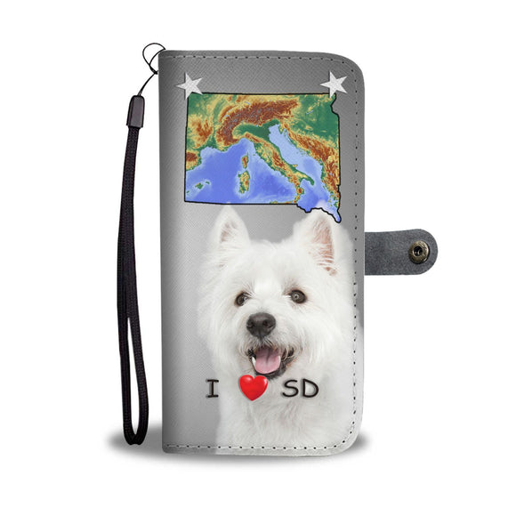 Lovely West Highland White Terrier Print Wallet Case-Free Shipping-SD State