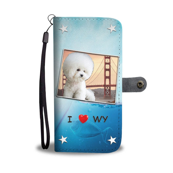 Lovely Bichon Frise Print Wallet Case-Free Shipping-WY State