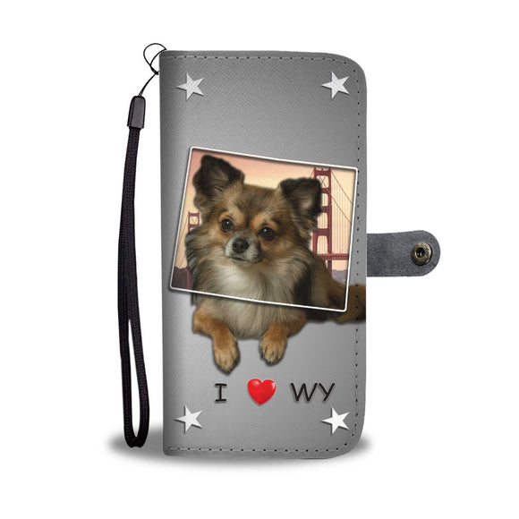 Lovely Chihuahua Print Wallet Case-Free Shipping-WY State