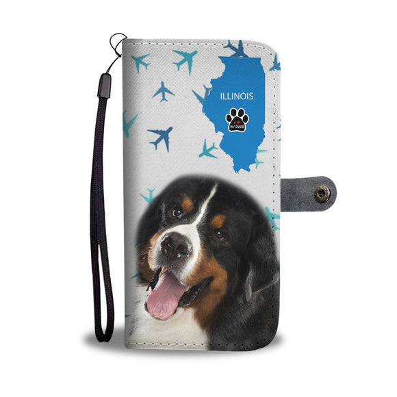 Bernese Mountain Dog Print Wallet Case-Free Shipping-IL State