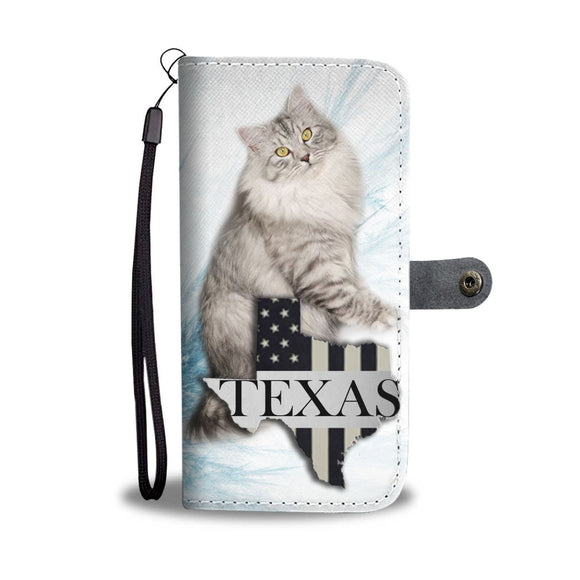 Siberian Cat Print Wallet Case-Free Shipping-TX State