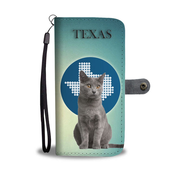 Chartreux Cat Print Wallet Case-Free Shipping-TX State