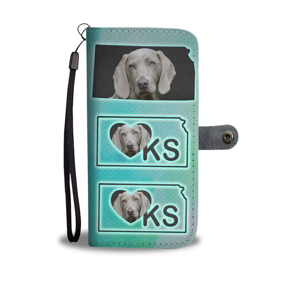 Weimaraner Dog Print Wallet Case-Free Shipping-KS State