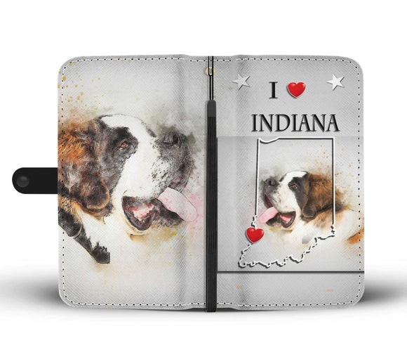 Cute St. Bernard Print Wallet Case-Free Shipping-IN State