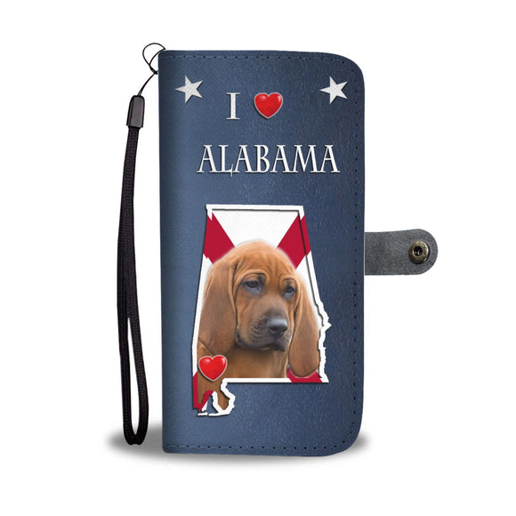 Redbone Coonhound Print Wallet Case-Free Shipping-AL State