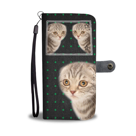 Scottish Fold Cat Print Wallet Case-Free Shipping-CO State