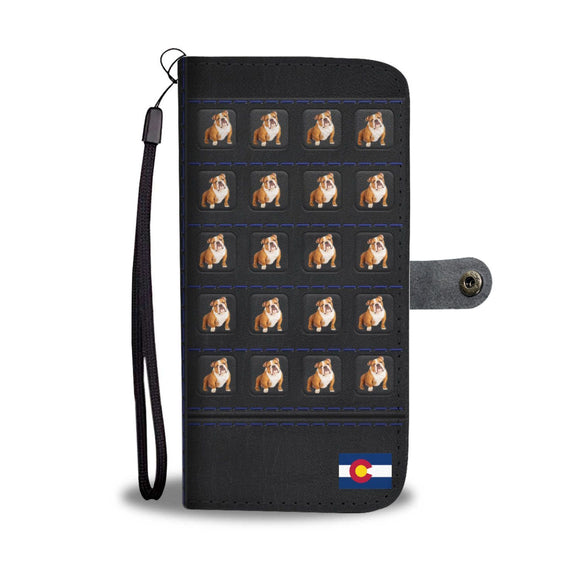 Bulldog Print Wallet Case-Free Shipping-CO State