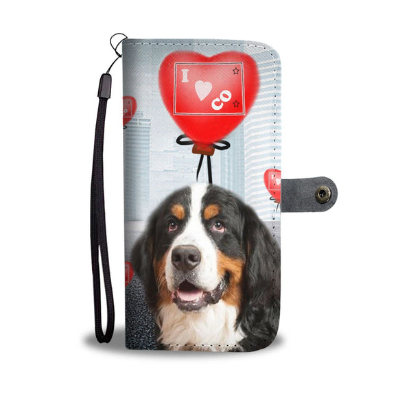 Bernese Mountain Dog Print Wallet Case-Free Shipping-CO State