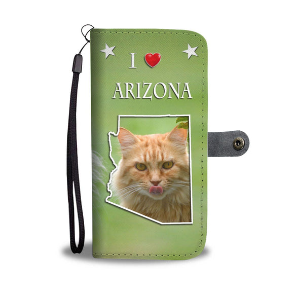 Cute Maine Coon Cat Print Wallet Case-Free Shipping-AZ State