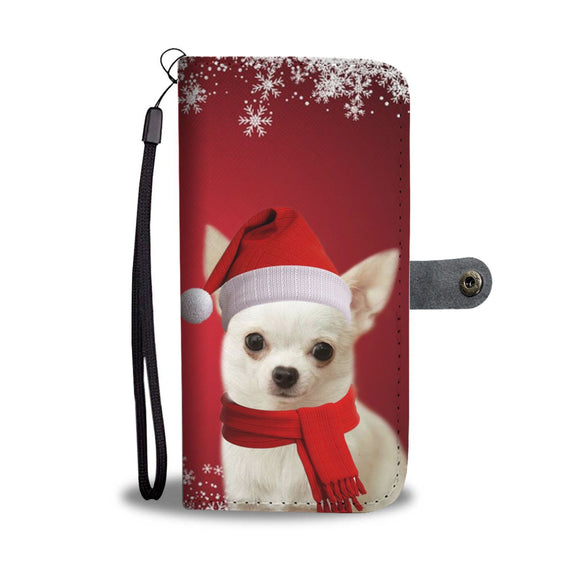 Chihuahua Christmas Print Wallet Case-Free Shipping