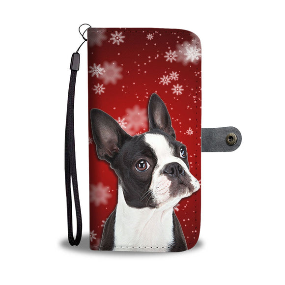 Boston Terrier Christmas Print Wallet Case-Free Shipping