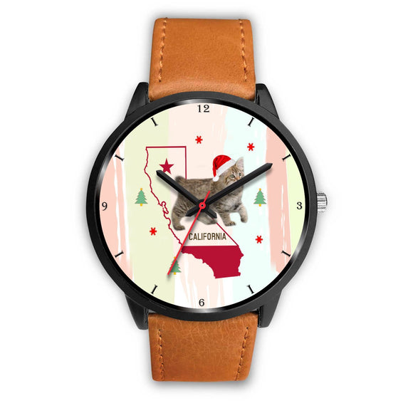 American Bobtail Cat California Christmas Special Wrist Watch-Free Shipping