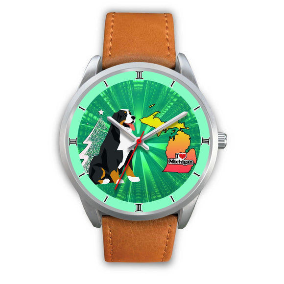 Lovely Bernese Mountain Dog Michigan Christmas Special Wrist Watch-Free Shipping