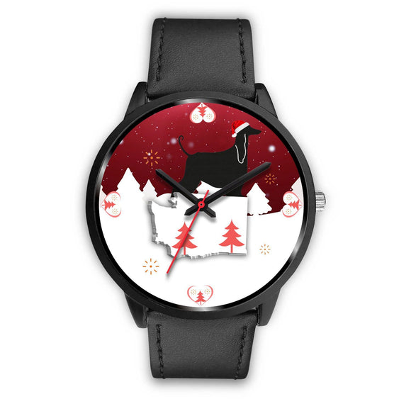 Afghan Hound Washington Christmas Special Wrist Watch-Free Shipping