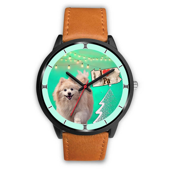 Pomeranian Dog Pennsylvania Christmas Special Wrist Watch-Free Shipping