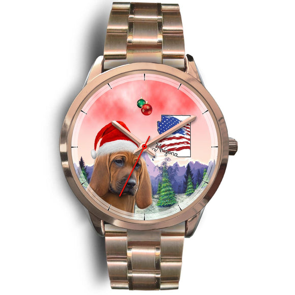 Redbone Coonhound Arizonza Christmas Special Wrist Watch-Free Shipping