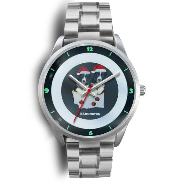 Border Collie Washington Christmas Special Wrist Watch-Free Shipping