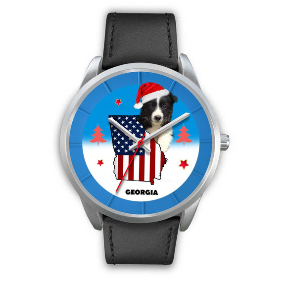 Border Collie Georgia Christmas Special Wrist Watch-Free Shipping