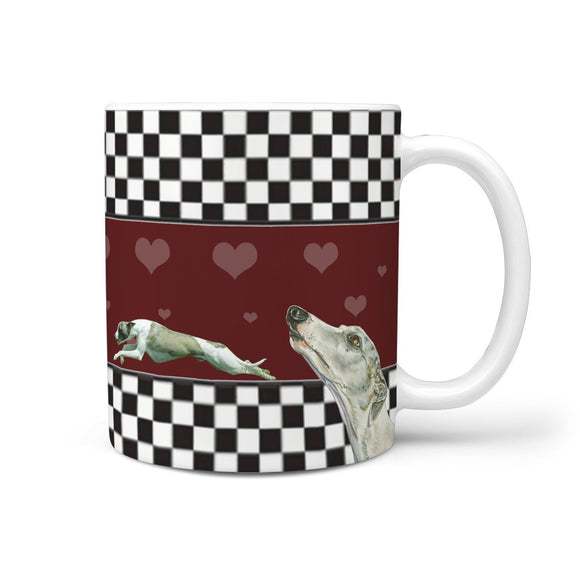 Whippet Dog Print 360 White Mug