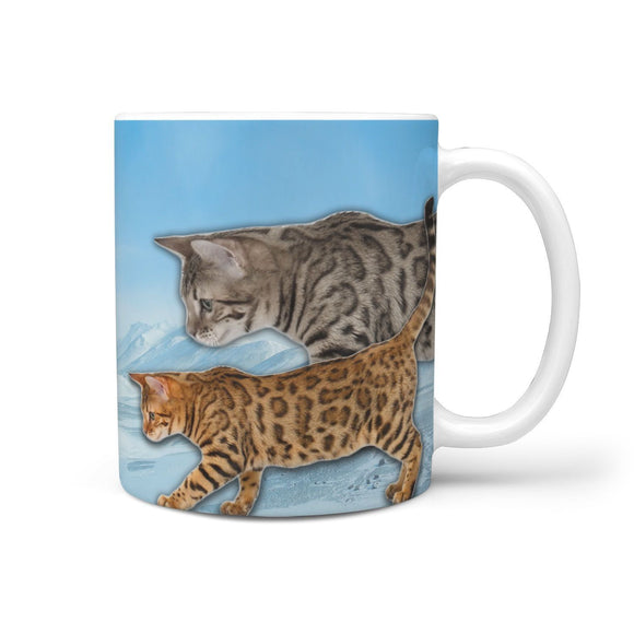 Cute California Spangled Cat Print 360 Mug
