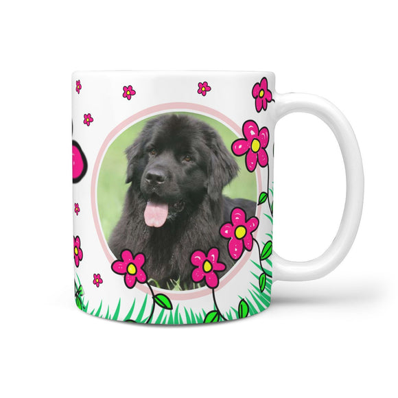 Newfoundland Dog Print 360 White Mug
