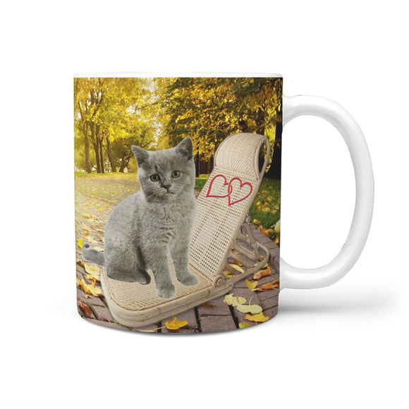 Lovely British Shorthair Cat Print 360 Mug
