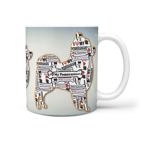 Pomeranian Dog Love Print 360 Mug