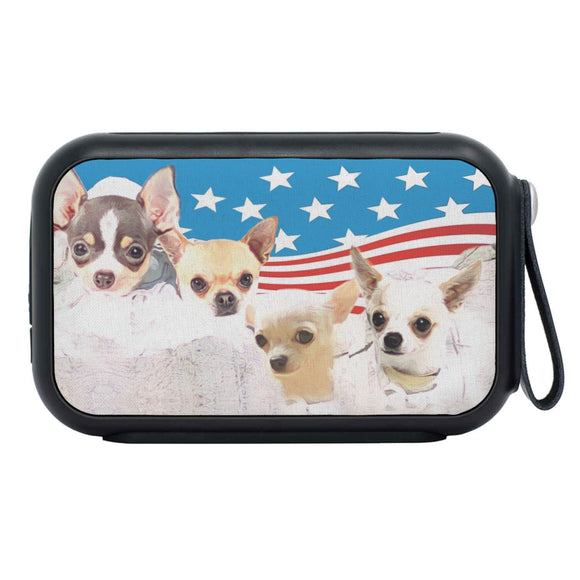 Chihuahua On Mount Rushmore Print Bluetooth Speaker
