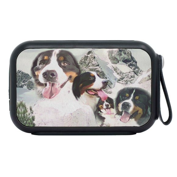 Bernese Mountain Dog Mount Rushmore Print Bluetooth Speaker