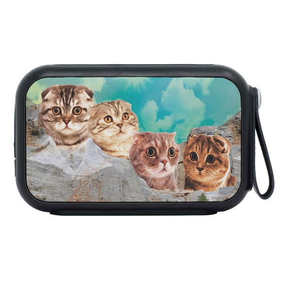 Scottish Fold Cat On Mount Rushmore Print Bluetooth Speaker