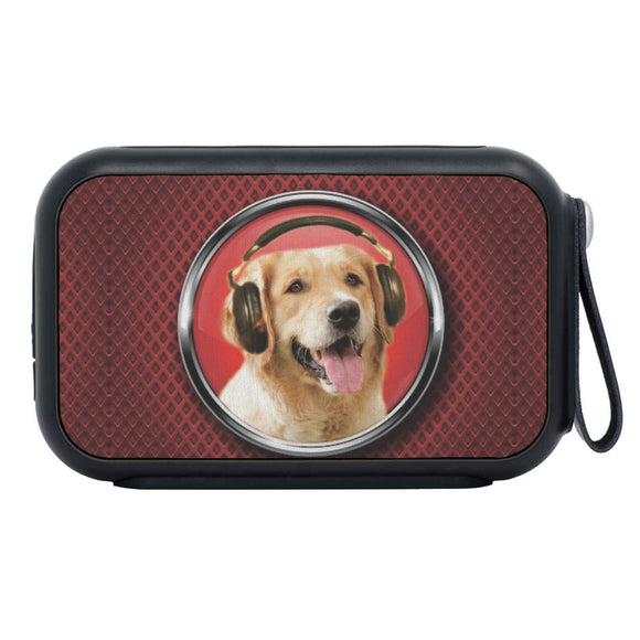 Golden Retriever Print Bluetooth Speaker