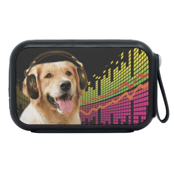 Cute Golden Retriever Print Bluetooth Speaker