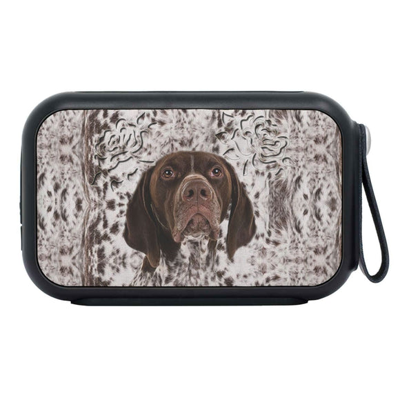 German Shorthaired Pointer Dog Print Bluetooth Speaker