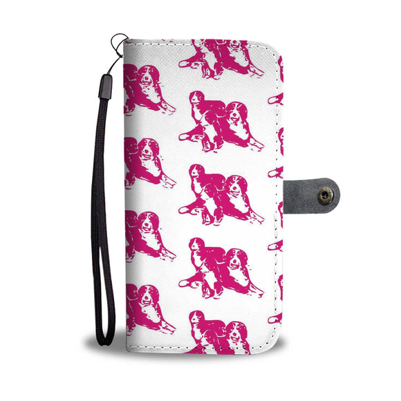 Bernese Mountain Dog With Family Patterns Print Wallet Case-Free Shipping