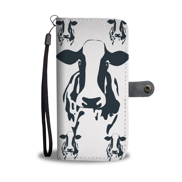 Sketch of Cow Print Wallet Case-Free Shipping