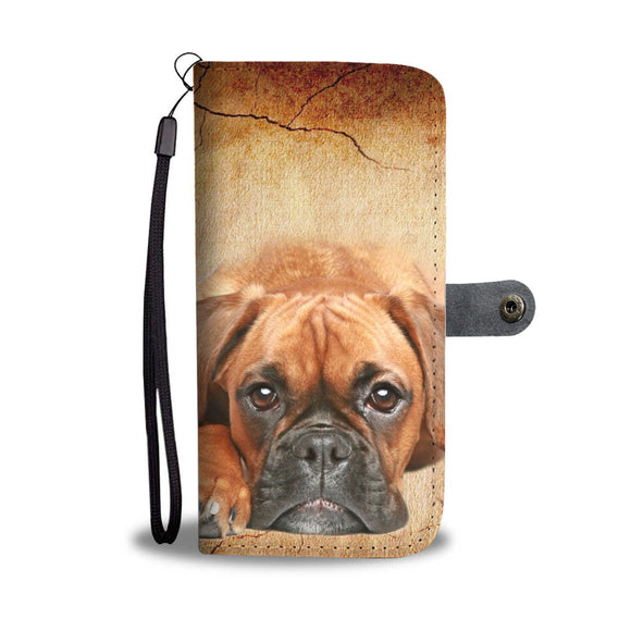 Cute Boxer Puppy Wallet Case- Free Shipping