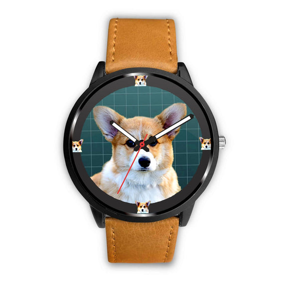 Pembroke Welsh Corgi Dog Print Wrist watch - Free Shipping