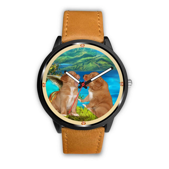 Nova Scotia Duck Tolling Retriever Puppy Print Wrist watch - Free Shipping