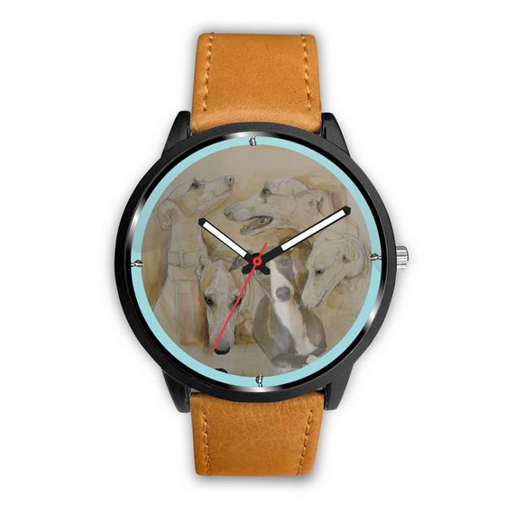 Whippet Dog Art Print Wrist Watch-Free Shipping