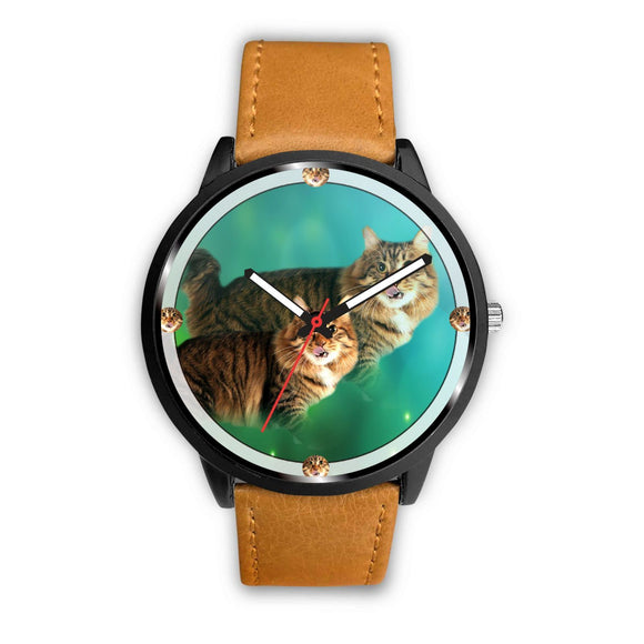American Bobtail Cat Art Print Wrist watch - Free Shipping