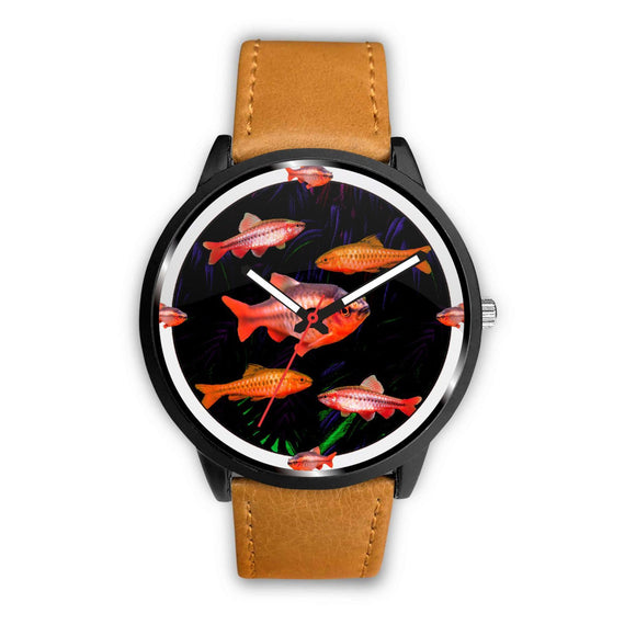 Cherry Barb Fish Print Wrist Watch - Free Shipping