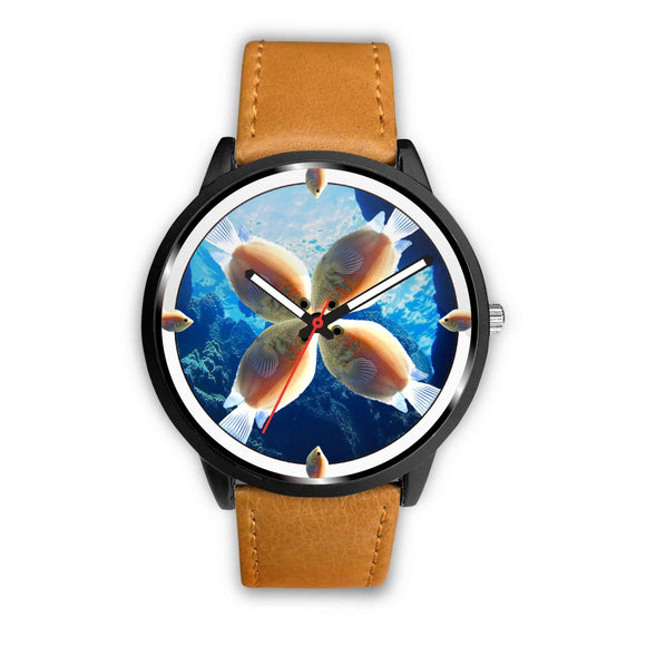 Kissing Gourami Fish (Kissing Fish) Print Wrist watch - Free Shipping