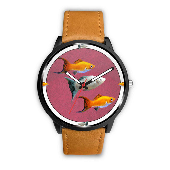 Molly Fish (Poecilia Vetiprovidentiae) Print Wrist watch - Free Shipping