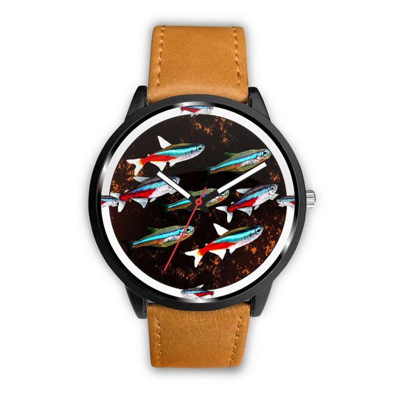 Neon Tetra Fish Print Wrist Watch - Free Shipping