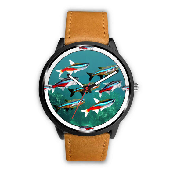 Neon Tetra Fish Art Print Wrist Watch - Free Shipping