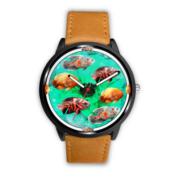 Beautiful Oscar Fish Print Wrist watch - Free Shipping