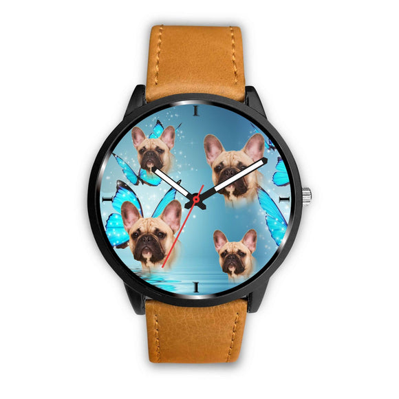 Lovely French Bulldog Print Wrist Watch- Free Shipping