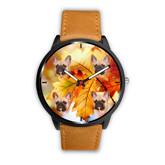 Cute French Bulldog Print Wrist Watch- Free Shipping