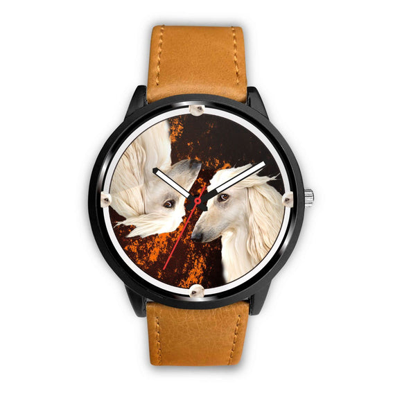 Afghan Hound Dog Art Print Limited Edition Wrist Watch - Free Shipping