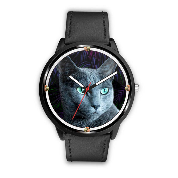 Amazing Russian Blue Cat Print Wrist Watch - Free Shipping